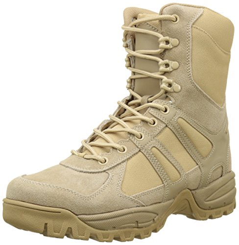Mil-Tec Security Police Army Combat Leather Boots Generation II Mens Tactical Khaki Size 10