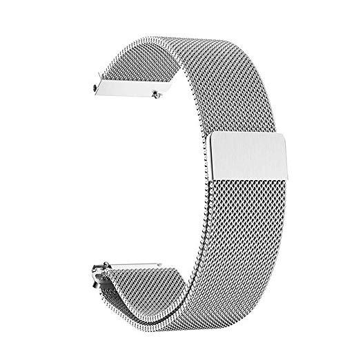 Correa de Reloj Magnética,Pulsera de Metal Acero Inoxidable para Hombres y Mujeres 14mm 16mm 18mm 20mm Plata