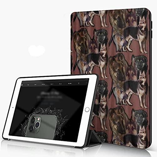 She Charm Carcasa para iPad 10.2 Inch, iPad Air 7.ª Generación,Superposición de Pastor alemán,Incluye Soporte magnético y Funda para Dormir/Despertar
