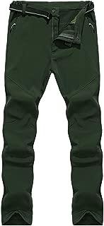 de los Hombres al Aire Libre Senderismo de Invierno Camping Caza Escalada Pantalones Impermeable Cáscara Suave Forrado Espesar Calentar Pantalones Resistentes al Desgaste