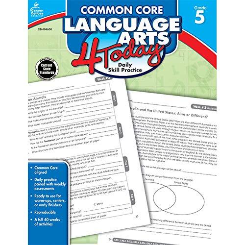 Carson Dellosa | Common Core Language Arts 4 Today Workbook | 5th Grade, 96pgs (Common Core 4 Today)