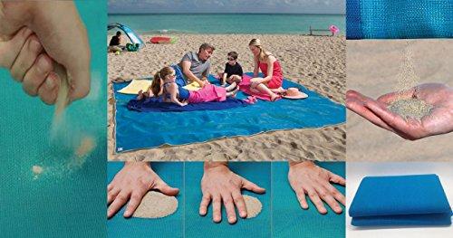 Sandabweisendes Strandtuch - für einen stressfreien und sandfreien Sommer am Strand, 200x 200150 cm.