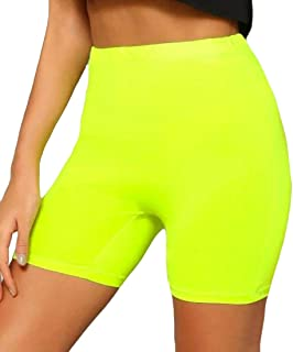 SHOWNO Womens Sexy Tummy Control Running Shorts High Waisted Yoga Pants