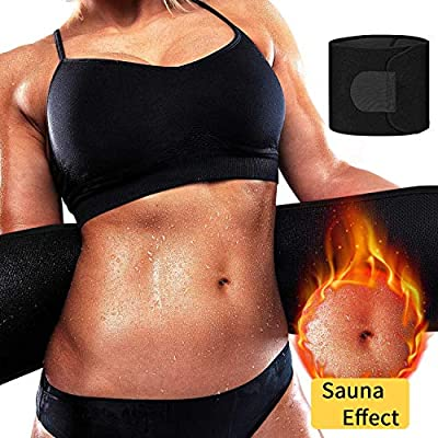 Waist Trimmer Belt,Waist Trainer Cincher Weight Loss Belt with Sauna Suit Effect-Sweat Enhancer Fat Burner for Women&men
