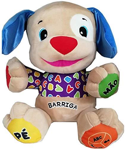 DINEGG Portugiesisch sprechendes Singing-Welpe-Spielzeug-Doggy-Puppe Baby-pädagogisches musikalisches Plüschspielzeug in den brasilianischen Portugues YMMSTORY