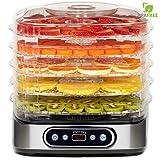 Classe Italy Alimenti, 5 Ripiani BPA-Free con Altezza Regolabile, Essiccatore Frutta...