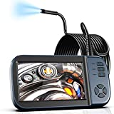Borescope Inspection Camera, Endoscope Camera 1080P 4.5' IPS Screen w/ IP67 Waterproof Snake Camera, Sewer Camera with Detachable Cable-16.4FT