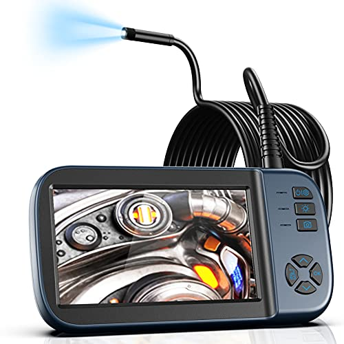 """Borescope Inspection Camera, Endoscope Camera 1080P 4.5"""" IPS Screen w/ IP67 Waterproof Snake Camera, Sewer Camera with Detachable Cable-16.4FT"""