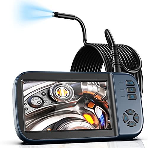 Borescope Inspection Camera, Endoscope Camera 1080P 4.5' IPS Screen w/ IP67 Waterproof Snake Camera,...