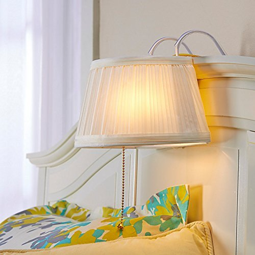 A Headboard Lamp is perfect for small bedrooms with no room for nightstands