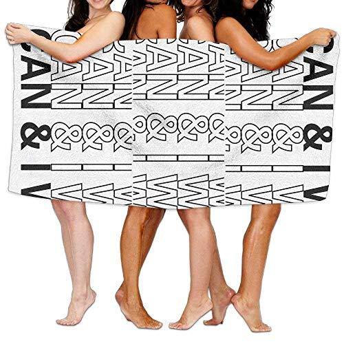 FSTGF - Toalla de Playa con Mensaje Positivo (80 x 130 cm), Suave, Ligera, Absorbente, para baño, Piscina, Yoga, Pilates, Picnic, Mantas