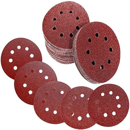 Discos de Lija 120 Piezas 125 mm    a 8