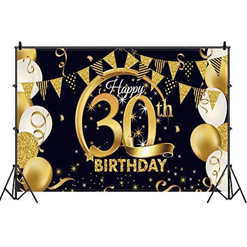 Decoración de Fiesta de Cumpleaños 30 Feliz Cumpleaños Fo