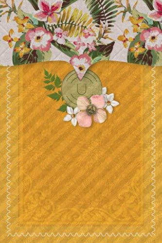 U: Flower Journal, Monogram Initial Capital Letter U, Cute Personalized...