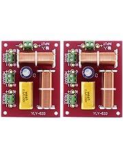 Bayda 2 Piezas 200W 3 VíAs Altavoz de Audio Crossover Agudos + Medios + Graves Altavoces Cruzados Independientes Divisor de Frecuencia de Filtro