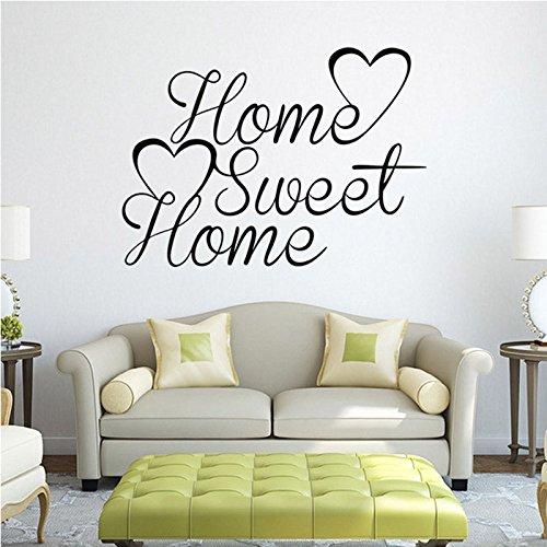 Adhesivo de vinilo para pared con cita y palabras, para decoración del hogar
