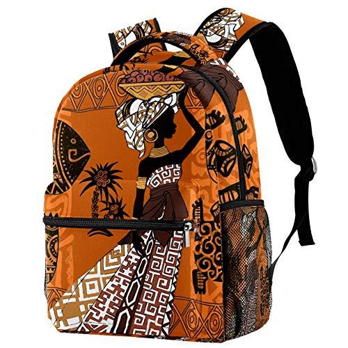 LORVIES Wunderschöner schwarzer afrikanischer Frau, Afrika, Masken und Ornamente, Kunst, lässiger Rucksack, Schulterrucksack, Büchertasche für Schule, Studenten, Reisetaschen