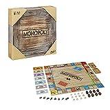 Monopoly, Édition Rustique en Bois, Jeu de Société Hasbro Gaming, Version Française, de 2 à 6 Joueurs