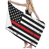 American Flag Microfiber Beach Towels Oversized for Bathroom...