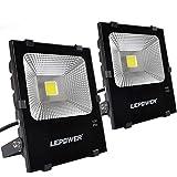 LEPOWER 50W LED Flood Light 2 Pack, Super Bright...