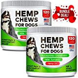 Hemp Chews + Glucosamine Combo for Picky Eaters - Duck and Bacon - Advanced Hip & Joint Supplement w/Hemp Oil Turmeric MSM Chondroitin + Hemp Protein to Improve Mobility - Joint Pain Relief