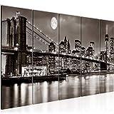 decoración de la pared Tabla Nueva York - 200 x 80 cm Vista de impresión en lienzo Salón Apartamento - listo para colgar - 606755b