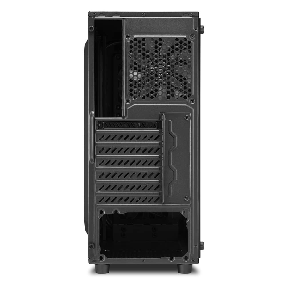 Sharkoon TG4 PC Case ATX Midi Tower Front And A Side Panel Made Of Tempered Glass - Red