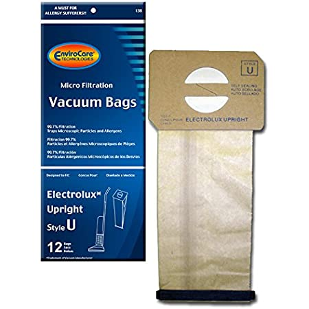12 Vacuum Bags for Aerus Electrolux Style U Replacement 4 Ply ProTeam Upright