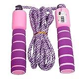 Dsaren Cuerda con Contador Jump Rope Cuerda para Saltar Ajustable para Entrenamiento, Adelgazamiento, Juego Escolar, Actividad al Aire Libre (Púrpura)