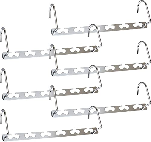 Newthinking Metal Magic Hangers, 6 Pack Space Saving Hangers, Heavy Duty Updated Hook Design Closet Organizer Space S...