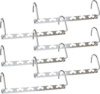 Newthinking Metal Magic Hangers, 6 Pack Space Saving Hangers, Heavy Duty Updated Hook Design Closet Organizer Space Saving...