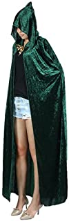 Women's Costume Full Length Crushed Velvet Hooded Cape
