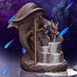 OWMMIZ Fly Dragon Backflow Incense Burner with 10 PCS Backflow Incense Cones, Waterfall Incense Holders Home Decor Gift Decorations Statue Ornaments