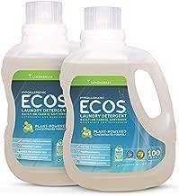 ECOS Hypoallergenic Liquid Laundry Detergent NonToxic Loads, Lemongrass, 100 Fl Oz (Pack of 2)