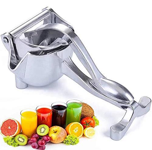 Hojaw Obst Handpresse, Hand Entsafter, Manuelle Entsafter, Saftpresse aus Aluminium, Zitruspresse, Fruchtsaftpresse, Orangenpresse, Fruchtpresse, Tragbarer Entsafter