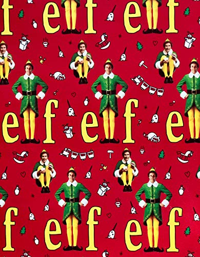 The Elf Movie Gift Wrap - Funny Elf Wrapping Paper - New Print - Large Roll 60 Sq. Ft.