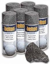 Kwasny - Juego de aerosoles (6 unidades, efecto granito, 400 ml), color negro