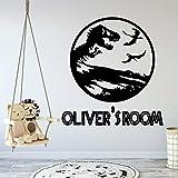 Dinosaurio de dibujos animados habitación de los niños accesorios de decoración del hogar jardín de infantes decoración del dormitorio pegatinas para el hogar pegatinas de pared del dormitorio 40x39cm