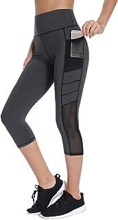 Joyshaper Womens High Waist Yoga Pants Tummy Control Workout Leggings with Pocket Mesh Running Tights
