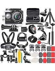Neewer G1 Ultra HD 4K Actie Camera Kit Inclusief 12MP, 90ft Onderwater Waterdichte Camera 170 Graden Groothoek WiFi Sport Cam High-tech Sensor met 50-In-1 Actie Camera Accessoire Kit