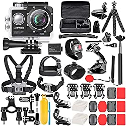 commercial The Neewer G1 Ultra HD 4K Action Camera Kit includes a 98ft 16MP 4K / 30FPS waterproof underwater camera … vivitar action camera