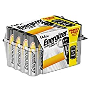 24-pack of Energizer Alkaline Power AAA batteries Leak-resistant design ensures your batteries won't leak in storage so they're ready when you are Long-lasting power for your family's everyday devices, like remotes, flashlights, clocks, toys, and mor...