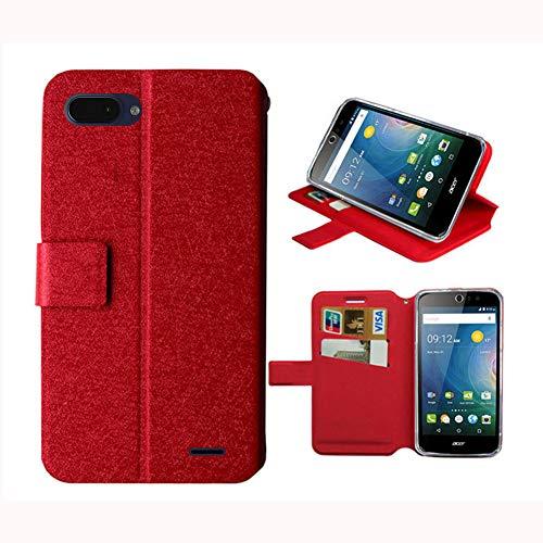 JIENI Hülle für Archos Core 55S Ultra,Flip PU Farblich abgestimmtes Brieftasche Handyhülle Ledertasche Hülle Kartenfach Schale Standfunktion Schutzhülle Cover für (5.45