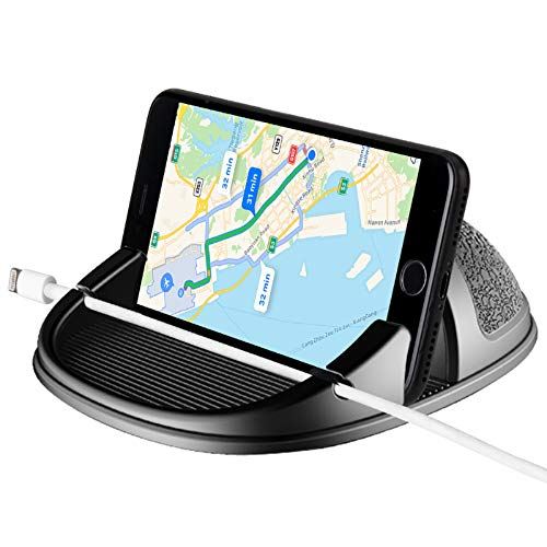 Beeasy Supporto Auto Smartphone, Cruscotto Antiscivolo, Porta Cellulare Auto per iPhone SE 2020 11 PRO Max X XS Max XR 8 7 6 6S Plus Galaxy s20 10 9 8 Plus Note 10 9 8/Huawei/One Plus/Sony Xperia/GPS