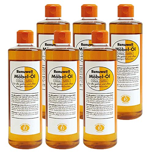 Renuwell 6 x 500 ml Möbel-Öl Möbelpflege Spar-Set