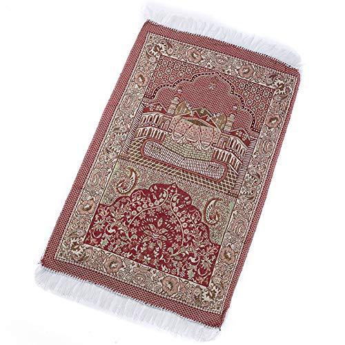 Vdn Djvn Teppich, 1 Stück, Baumwolle, Moschee, Motiv Gebetsteppich Muslimisch, Türkisch, Islamisch, 65 x 110 cm, Rot