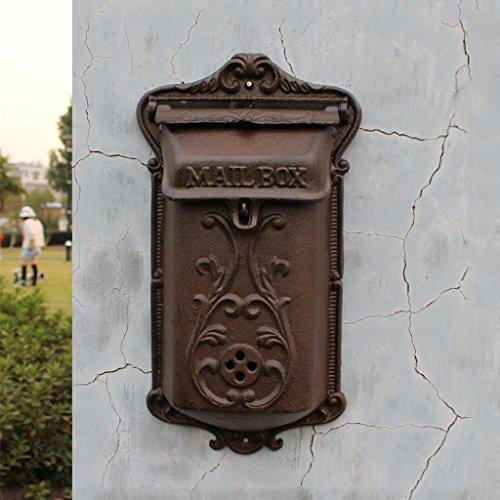 LBYMYB Gusseisen Der Europäischen Art Gusseisernen Retro- Alten Gusseisenbriefbrief-Wandbehang Briefkasten