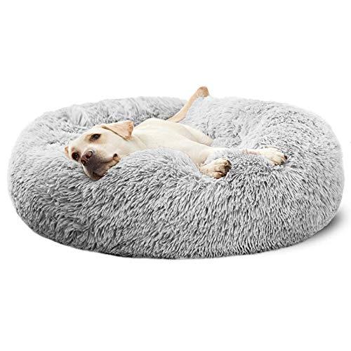 ANWA Haustierbett Donut Hundebett, Welpe Hundebett große Hunde, rundes Plüsch Hundebett weiches...