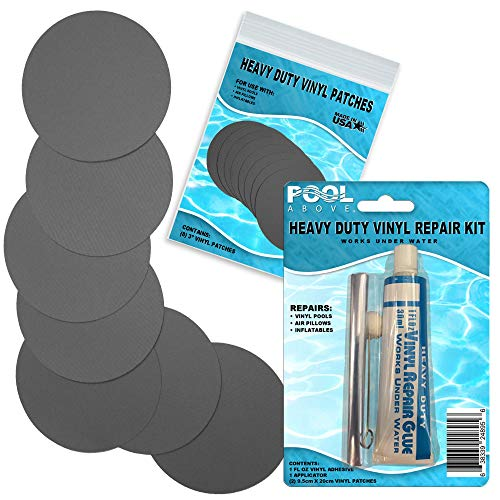 Heavy Duty Charcoal Vinyl Patch Glue Kit for Inflatable Boats