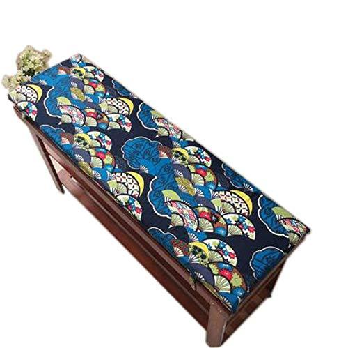 YWTT Cojín para Banco de jardín con Lazo de fijación, Banco de Madera, cojín para Asiento, Tumbona, colchón para tumbonas, cojín para Asiento portátil de Viaje para Exteriores, 4 cm de Grosor, la